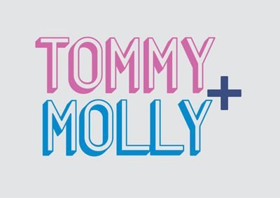 tommy and molly logo design by hyphenate llc